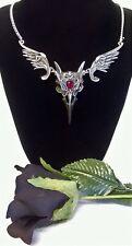 Alchemy Gothic COLLANA MASQUE della rosa nera RAVEN SKULL rabeschadel CIONDOLO