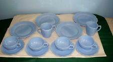 CHILD'S SET DELPHITE CHERRY BLOSSOM DEPRESSION GLASS JEANNETTE 14 PIECES + BOX