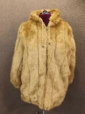 Woman Within NEW Brown Reversible Teddy Bear Faux Fur & Canvas Anorak Coat 1X