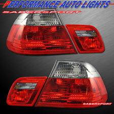 2000-2003 BMW E46 3-SERIES 2DR COUPE RED SMOKE TAIL LIGHTS 4PCS