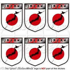 """JAPAN Japanese Shield 40mm (1.6"""") Mobile Cell Phone Mini Stickers-Decals x6"""