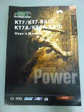 ABIT KT7/KT7- RAID KT7/KT7A- RAID USER'S MANUAL (BOOK)