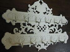 hierro fundido Tablero De Llaves 28cm Rústico Crema-Blanco