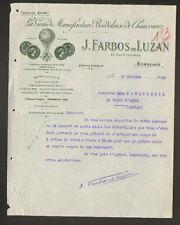 """BORDEAUX (33) USINE de CHAUSSURES PANTOUFLES """"J. FARBOS DE LUZAN"""" en 1932"""