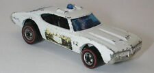 Redline Hotwheels White Blue Light 1974 Police Cruiser oc9905