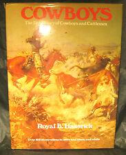 """COWBOYS"" - ""1ST"" - HB/DJ - 1974  - royal hassrick - cowboys and horses"