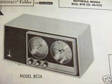 MOTOROLA BC1A & BC1S RADIO PHOTOFACT