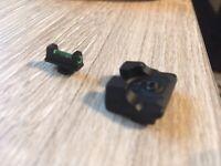 Rustbelt Tactical Green PRO Fiber-Optic Day/Night Sights Glock 42, 29, 17, 19, 2