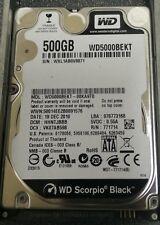 """Western Digital WD5000BEKT-00KA9T0 500GB 7200 RPM SATA 2.5"""" Hard Disk Drive"""