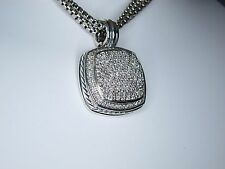DAVID YURMAN ALBION 17MM DIAMOND STERLING SILVER ENHANCER PENDANT