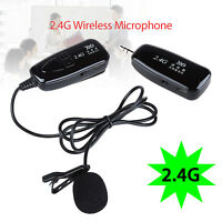 2.4G Wireless Microphone Megaphone Headset Radio Mic For Speech Loudspeaker BLK
