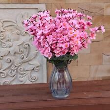 Artificial Peach Blossom Sakura 7-Stem Silk Flower Bouquet Home Decor Pink