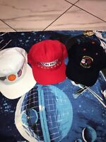Lot Of 3 Union Southern Pacific Roseville Service Station Hats Big Logos