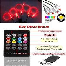 4x LED RGB Charge Interior Accessories Foot Car Decorative Light Universal 6M
