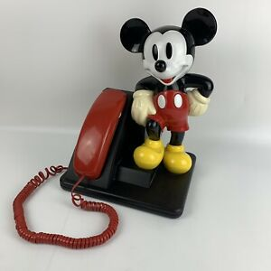 Vintage Disney Mickey Mouse AT&T Corded Land Line Touch Tone Telephone Phone