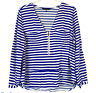 Portmans Womens Blue/White Striped Long Sleeve Blouse Size 12