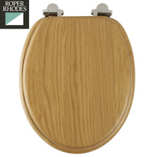 Roper Rhodes Solid Oak Wooden Toilet Seat Soft Close Chrome Hinges Easy Clean
