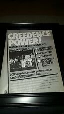 Creedence Clearwater Revival Royal Albert Hall Rare Promo Poster Ad Framed!