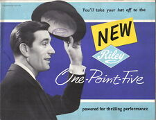 Riley One Point Five 1.5 1957-60 Original UK Sales Brochure Pub. No. H&E 5746
