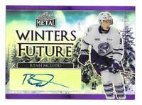 2016-17 Ryan McCleod Leaf Metal Rookie Winter's Future Auto 3/10 - Oilers