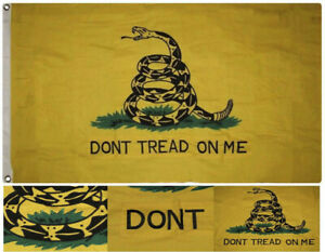 6x10 Embroidered Sewn Gadsden Don't Tread On Me 600D Nylon Flag 6'x10'