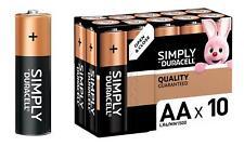 Duracell simply Type AA Lot de 10 Piles Power Alcaline Batterie Volt LR6 MN1500