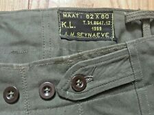 GERMAN ARMY 1950s MEN MILITARY FIELD PANTS~DATED 1959~MADE IN GERMANY~MINT~34x32