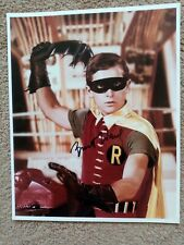 More details for burt ward signed 10x8 colour photo batman and robin coa