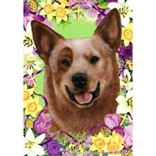 Easter House Flag - Red Australian Cattle Dog 33281