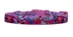 """Pink  """"Disney's Dumbo """" chihuahua  pet dog puppy collar collar & lead or harness"""