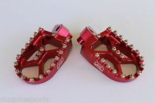 NEW BILLET CNC WIDE FAT FOOT PEGS HUSQVARNA CR TC TE TXC 50-610 (1999- 2013)-RED