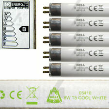 "5 x 8 watt 300mm T5 fluorescent tubes cool white light 12"" 8W lamp bulb Bell"