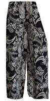 NEW FLORAL PRINT PALAZZO  TROUSERS  SUMMER LADIES  WIDE LEG PANTS PLUS SIZE 8