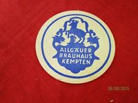 alter Bierdeckel - Allgäuer Edelbräu , Allgäuer Brauhaus Kempten  /S44