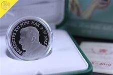 Vatikan 10 Euro 43. Weltfriedenstag Silber PP 2010