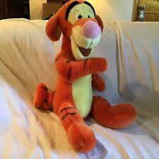 "JUMBO Walt Disney Company Orange Striped Tigger 21"" Stuffed Plush Animal *EUC*"