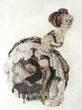 Hans PELLAR Erotika Farbradierung ° barocke Szene ° signierte Radierung