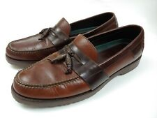 Hs trask mens  brown leather Tassle loafers Size 14 M(0US49) Made In Brazil