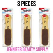 3 PC DOUBLE SIDED WOODEN PEDICURE FILE WET & DRY FOOT CALLUS REMOVER WATERPROOF