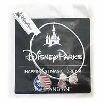 Disney Parks ALEX AND ANI Mickey Mouse American Flag SILVER Patriotic Bracelet
