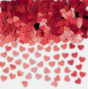 Heart Shape Red Table confetti Birthday Anniversary Sprinkles Decorations 2Pk