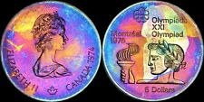 1976 CANADA MONTREAL OLYMPICS SILVER $5 DOLLARS COLOR TONED IN HIGH GRADE PROOF