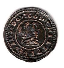 ESPAÑA 16 maravedies cobre 1663 ceca Trujillo marca M - Rey Felipe IV