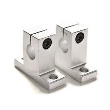 2PCS SK10 10mm Bearing CNC Aluminum Linear Rail Shaft Guide Support WF