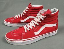 Vans Hi Red Skateboard Shoes Mens Size 10.5 Womens 12