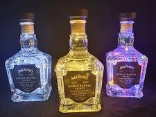 Jack Daniels Single Barrel Flaschen Lampe mit 80 LED Farbwahl Upcycling Geschenk