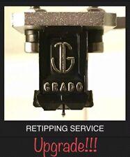 Grado Cartridge Black Blue Red Green Silver Gold Nude Elliptical Stylus SERVICE