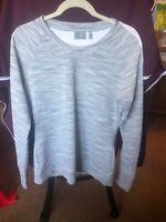 Athleta Women's Long Sleeve Waffle Shirt Heather Gray SZ Medium