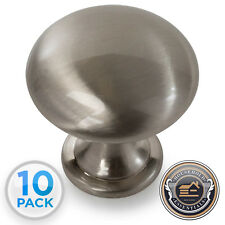 Cabinet Hardware Knob Drawer Pull Brushed Satin Nickel Finish 10 pack