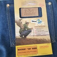 Vintage 60s Maverick Jeans Blue Bell Sanforized Denim 32x36 Western Rodeo USA